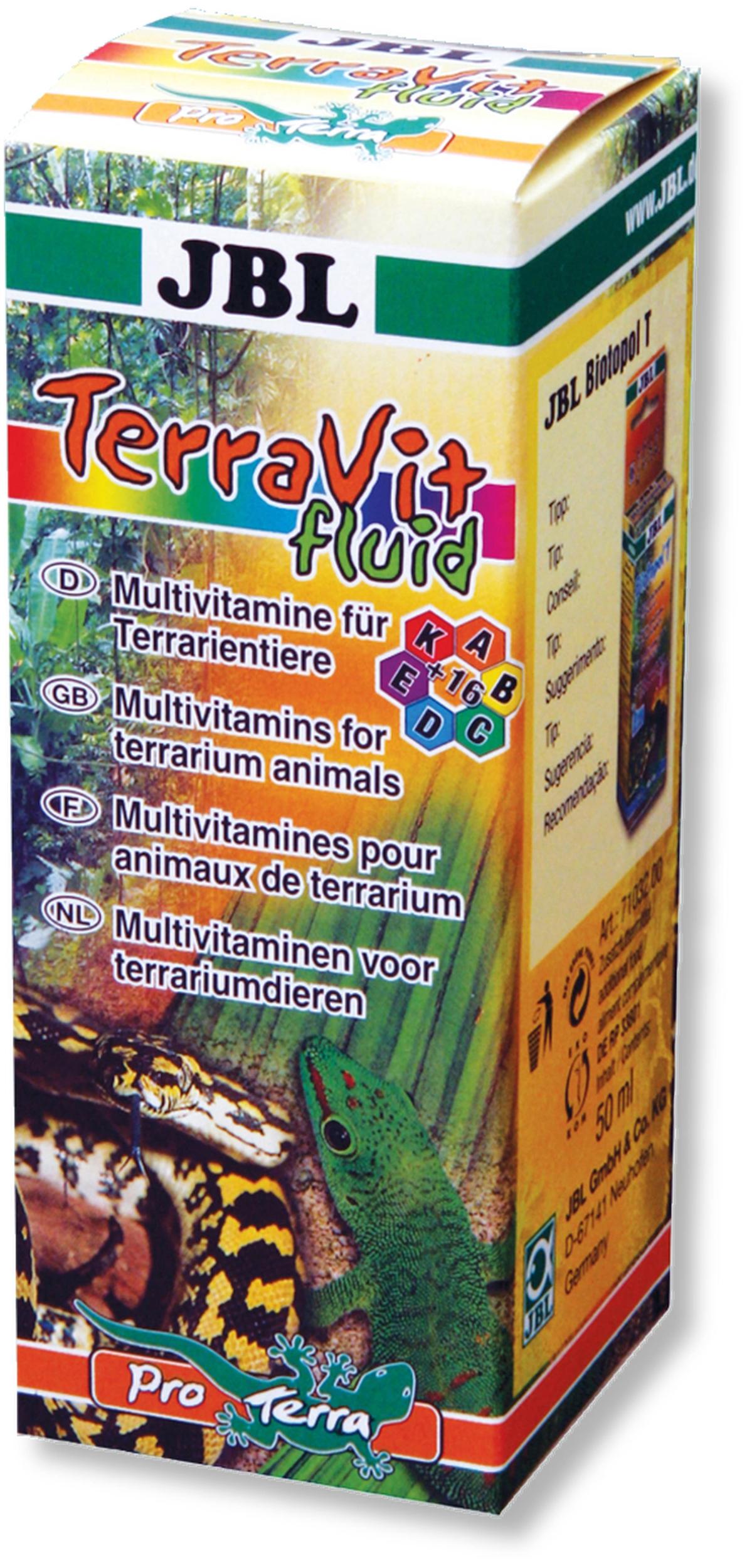 JBL TerraVit fluid 50 ml multivitamines liquides pour les animaux de terrariums