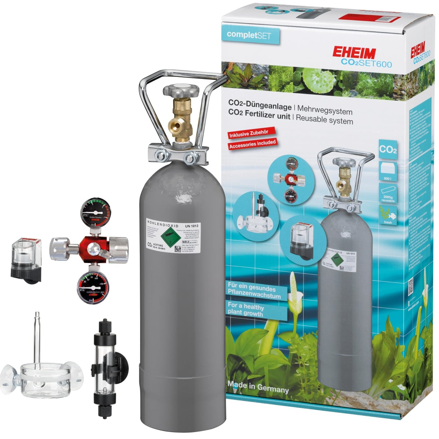 EHEIM CO2 Set 600 kit complet pour aquarium jusqu\'à 600 L