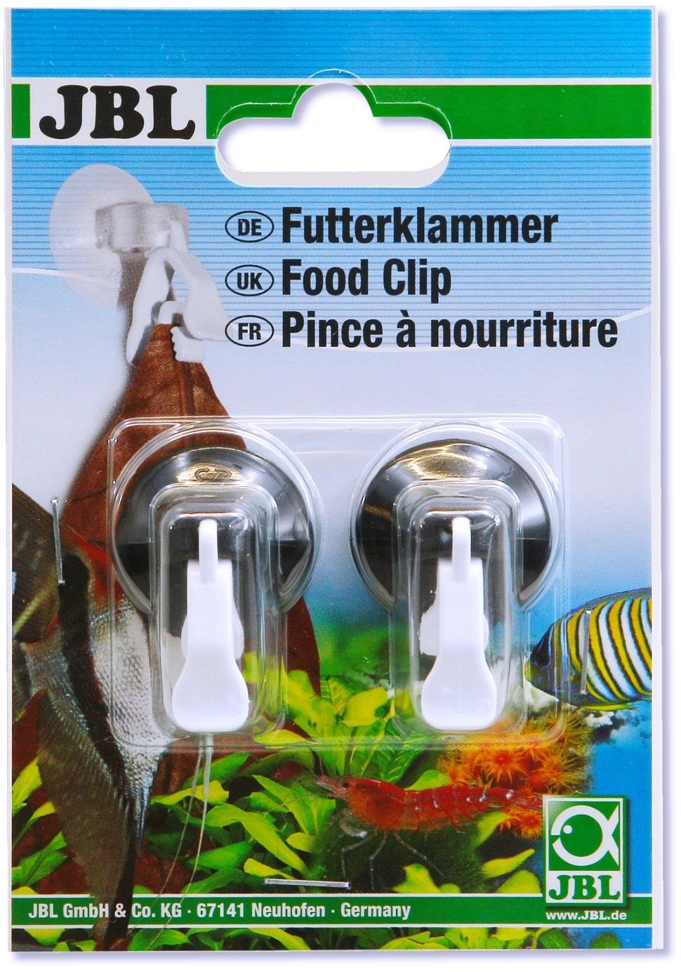 JBL lot de 2 Pinces à nourriture idéale pour maintenir en suspension les aliments sous forme de feuille