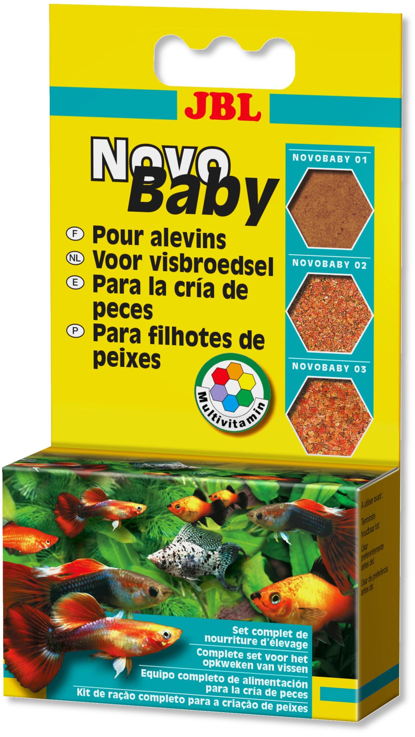 JBL NovoBaby kit de 3 nourritures d\'élevage pour alevins