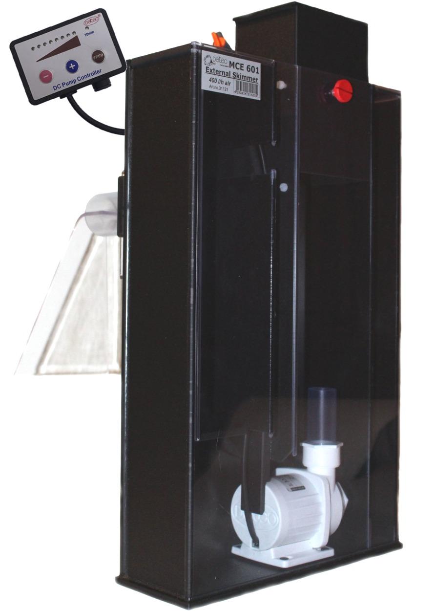 DELTEC MCE 601 écumeur à suspendre avec pompe 24V pour aquarium jusqu\'à 600L