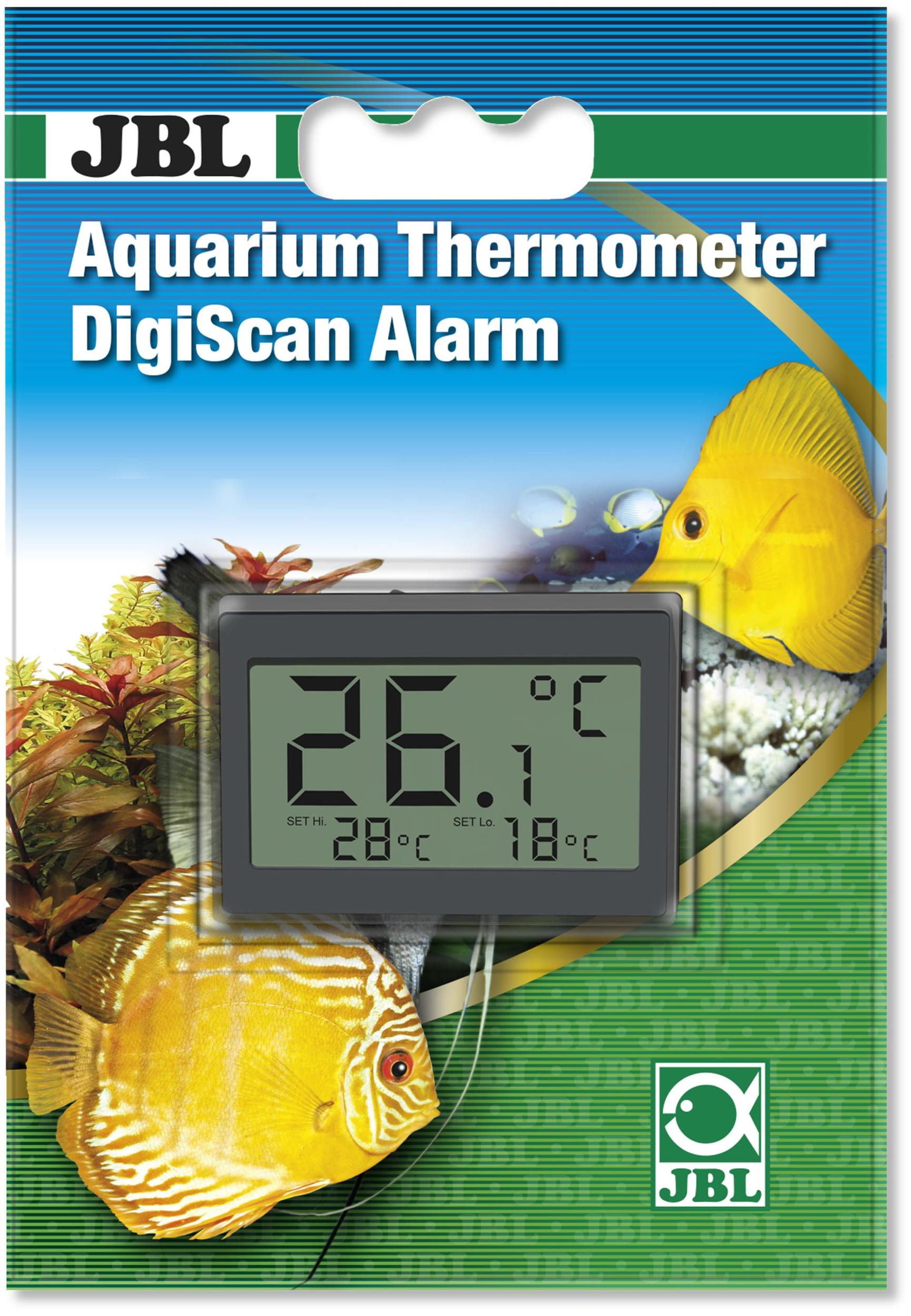 jbl digiscan alarm thermom u00e8tre num u00e9rique avec alarme  u00e0 coller sur la vitre de l u0026 39 aquarium