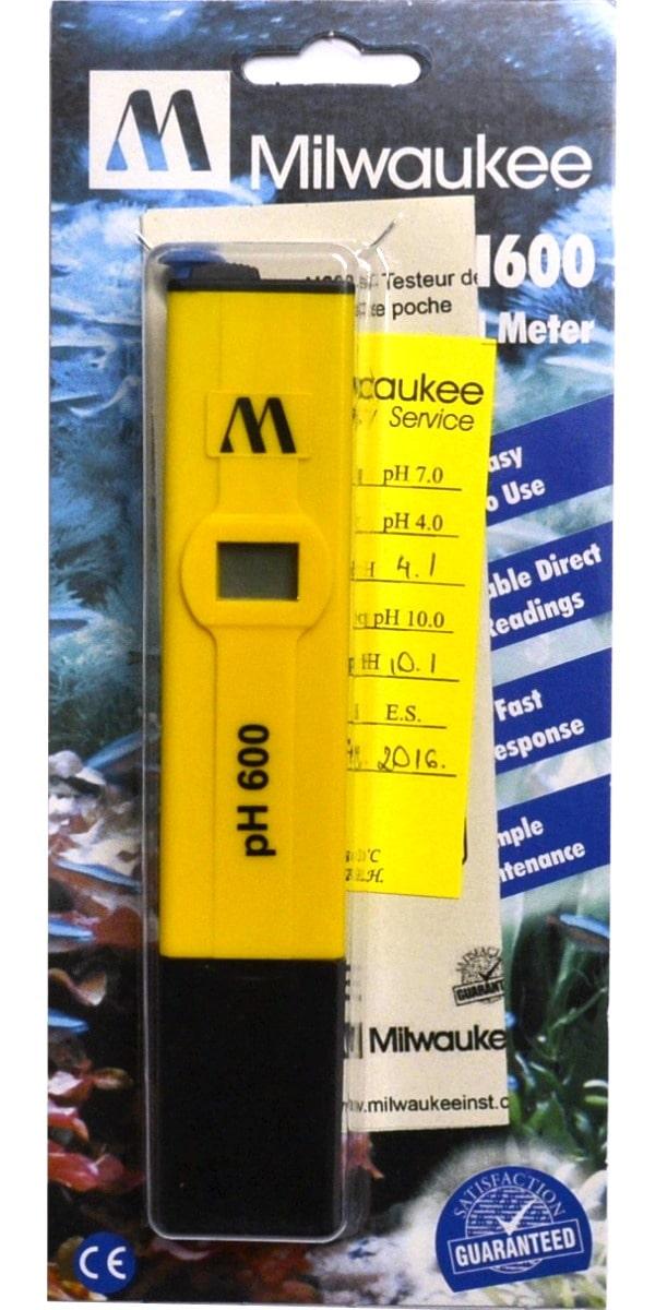 MILWAUKEE pH600 appareil électronique haute précision pour la mesure du pH en aquarium d\'eau douce, eau de mer et bassin