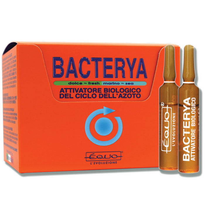 EQUO Bacterya 24 Ampoules accélère le cycle de l\'azote en aquarium d\'eau douce et d\'eau de mer