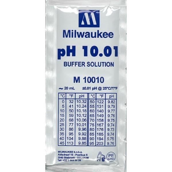 MILWAUKEE Solution d\'étalonnage pH 10.01 20 ml pour électrodes pH et pH-mètre toutes marques