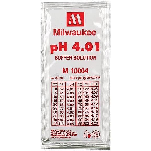 MILWAUKEE Solution d\'étalonnage pH 4.01 20 ml pour électrodes pH et pH-mètre toutes marques