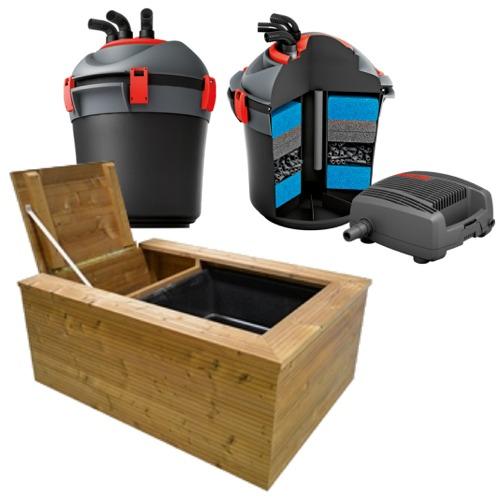 EHEIM Patio Pond kit bassin hors sol complet 200L avec filtre à ...