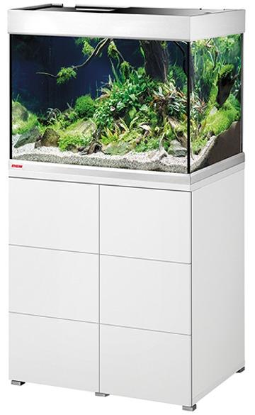 EHEIM Proxima 175 L classicLED Blanc Brillant aquarium 70 cm avec meuble et éclairage LEDs 2 x 12W