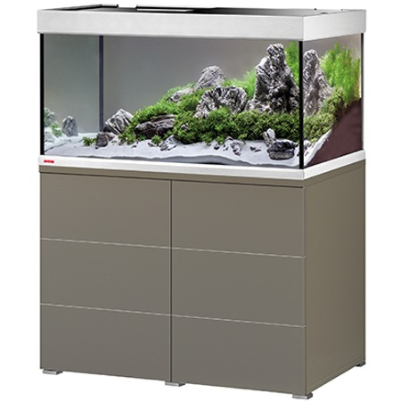EHEIM Proxima 250 L classicLED Moka Marron Brillant aquarium 100 cm avec meuble et éclairage LEDs 2 x 17W