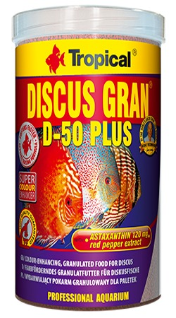 TROPICAL Discus Gran D-50 Plus 100 ml granules descendantes rehaussant la couleur pour discus