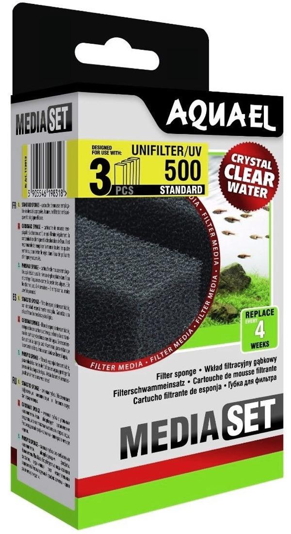 AQUAEL Média Set pour filtre UniFilter UV 500 lot de 3 cartouches de mousse