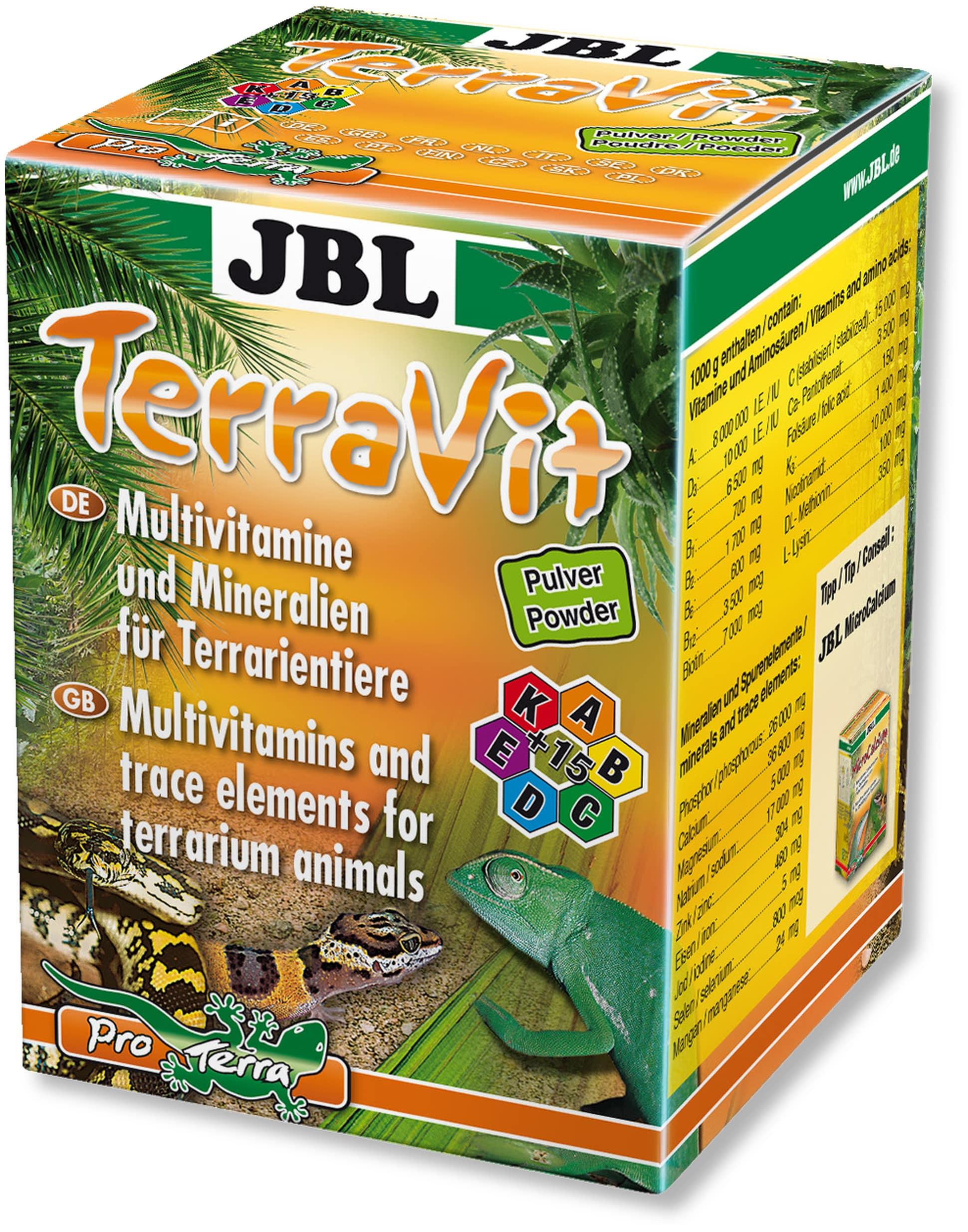 JBL TerraVit 100 gr multivitamines en poudre pour les animaux de terrariums