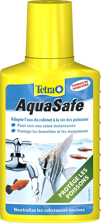 TETRA AquaSafe 100 ml transforme instantanément l\'eau du robinet en une eau comme à l\'état naturel, adaptée aux besoins des poissons