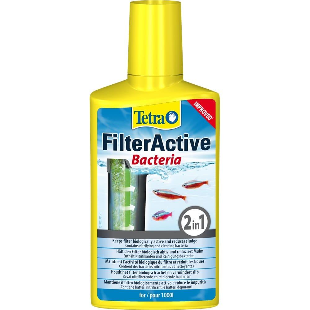 TETRA FilterActive 250 ml bactéries pour le maintient de l\'activité biologique dans le filtre et l\'aquarium