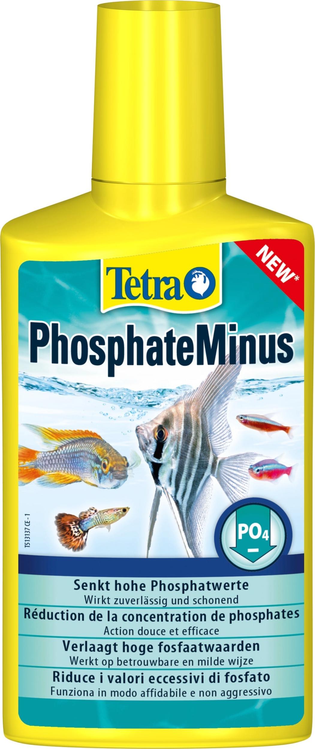 TETRA PhosphateMinus 250 ml réduit efficacement le taux de Phosphate en aquarium d\'eau douce