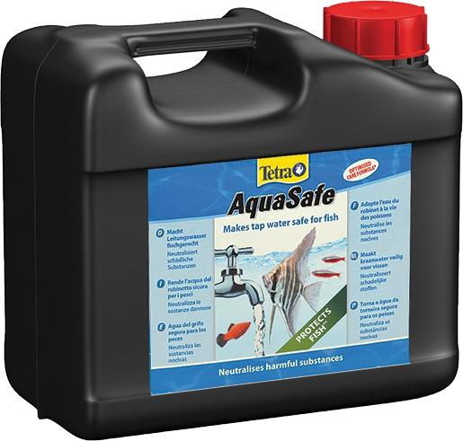 TETRA AquaSafe 5L transforme instantanément l\'eau du robinet en une eau comme à l\'état naturel, adaptée aux besoins des poissons