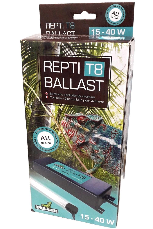 REPTILES PLANET Repti-Ballast T8 15-40W ballast électronique complet avec douilles pour 1 tube néon de 15 à 40W