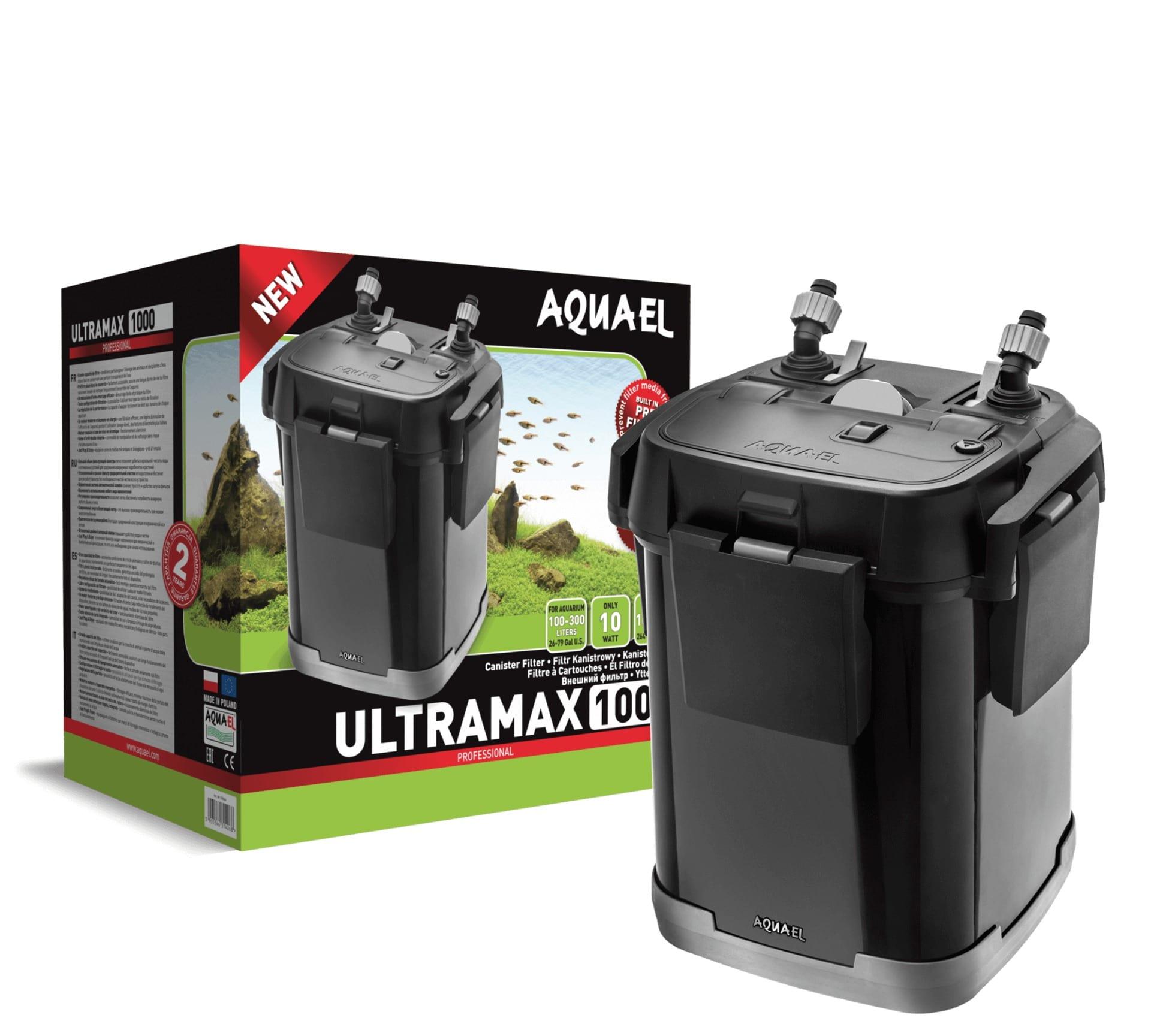 AQUAEL UltraMax 1000 filtre externe complet pour aquarium de 100 à 300L