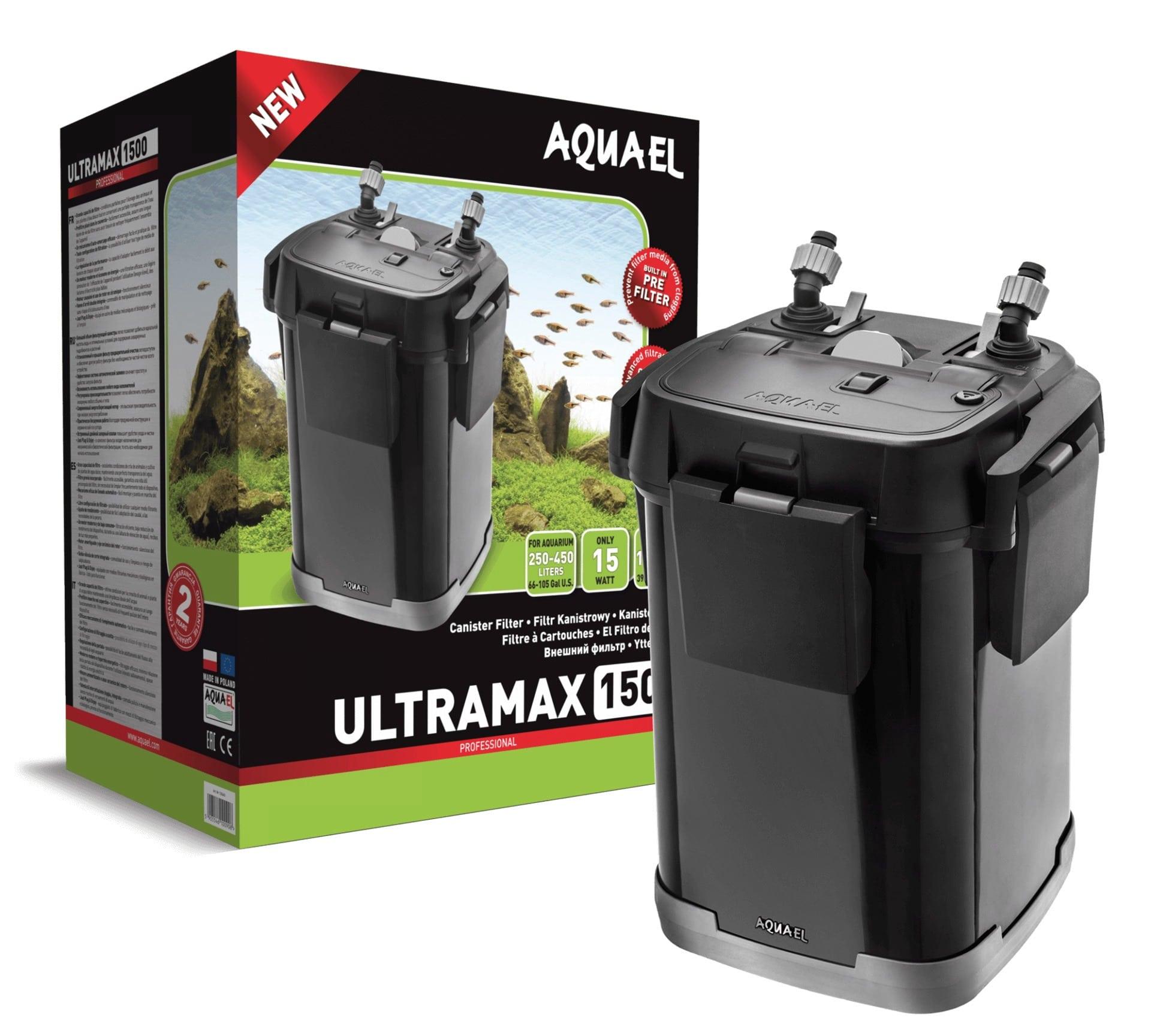 AQUAEL UltraMax 1500 filtre externe complet pour aquarium de 250 à 450L