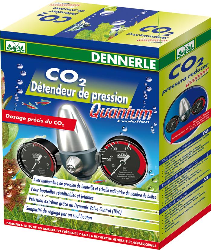 DENNERLE CO2 Evolution Quantum détendeur avec manomètres pour bouteille jusqu\'à 250 bars