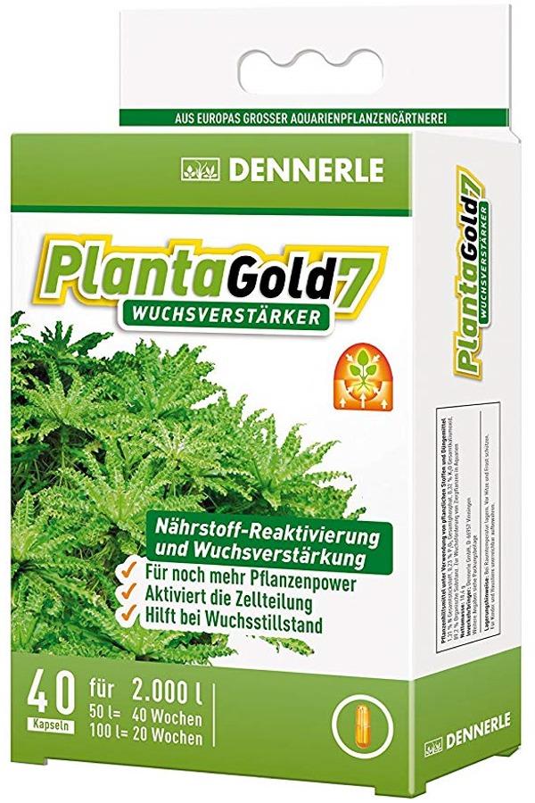 DENNERLE PlantaGold 7 lot de 40 capsules de bio-enzymes pour booster la croissance des plantes. Traite jusqu\'à 2000 L