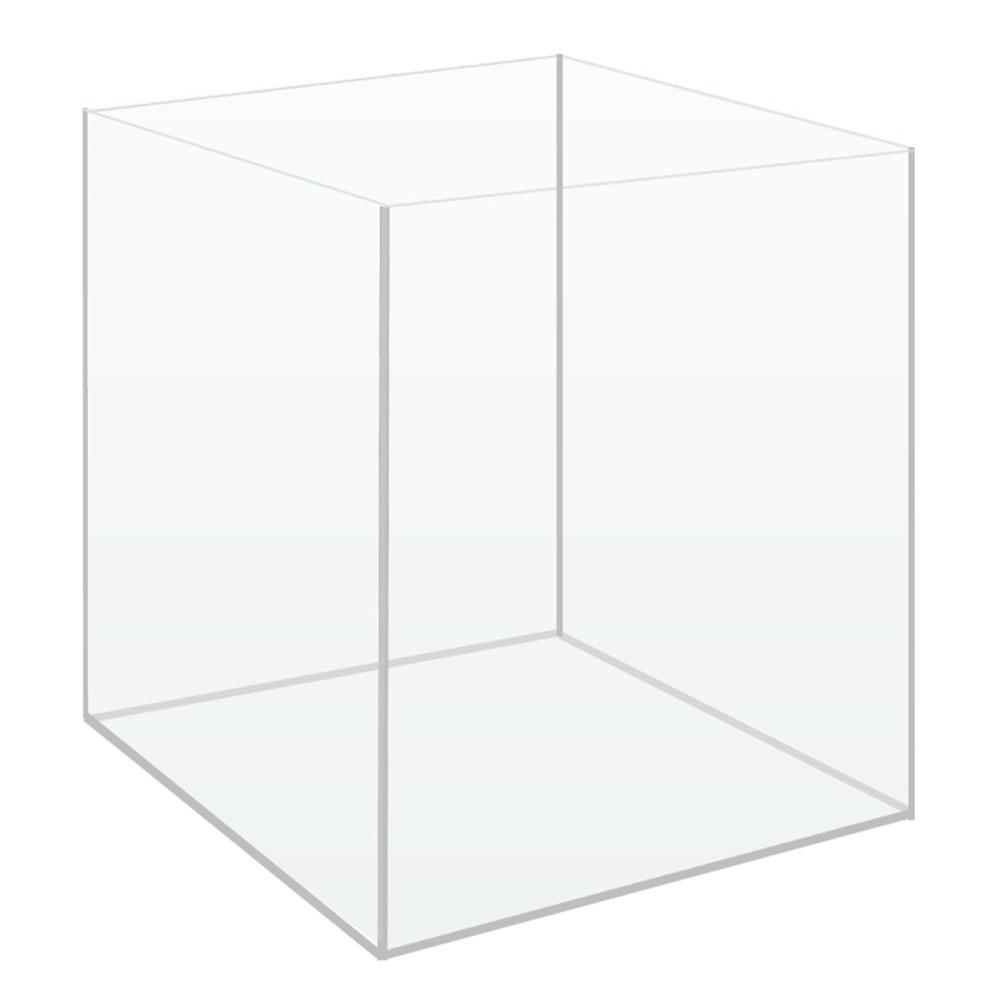 Cuve nue AkouaCube 25 x 25 x 30 cm 18,75 L en verre 3 mm avec couvercle pour Nano-aquarium