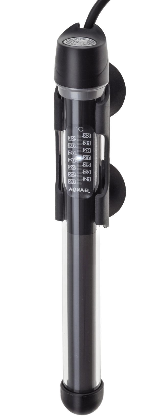 AQUAEL Platinium Heater 50W chauffage pour aquarium de 15 à 50L avec thermostat électronique intégré