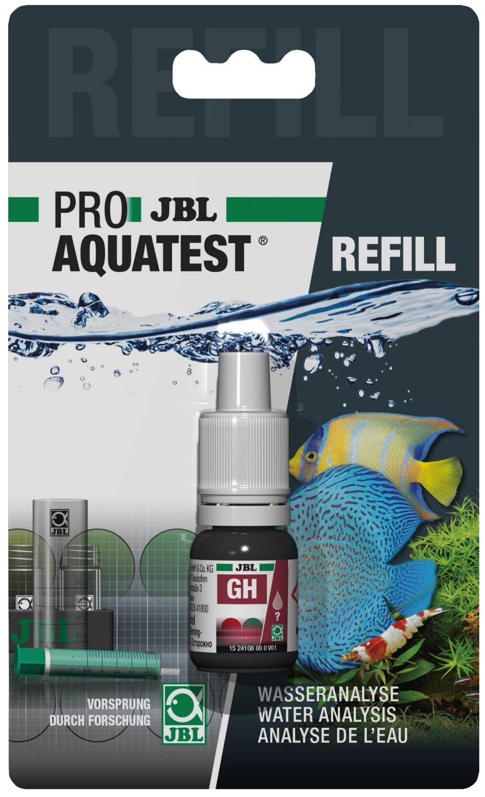 JBL Recharge ProAquaTest GH pour nouveau et ancien kit de test de dureté totale
