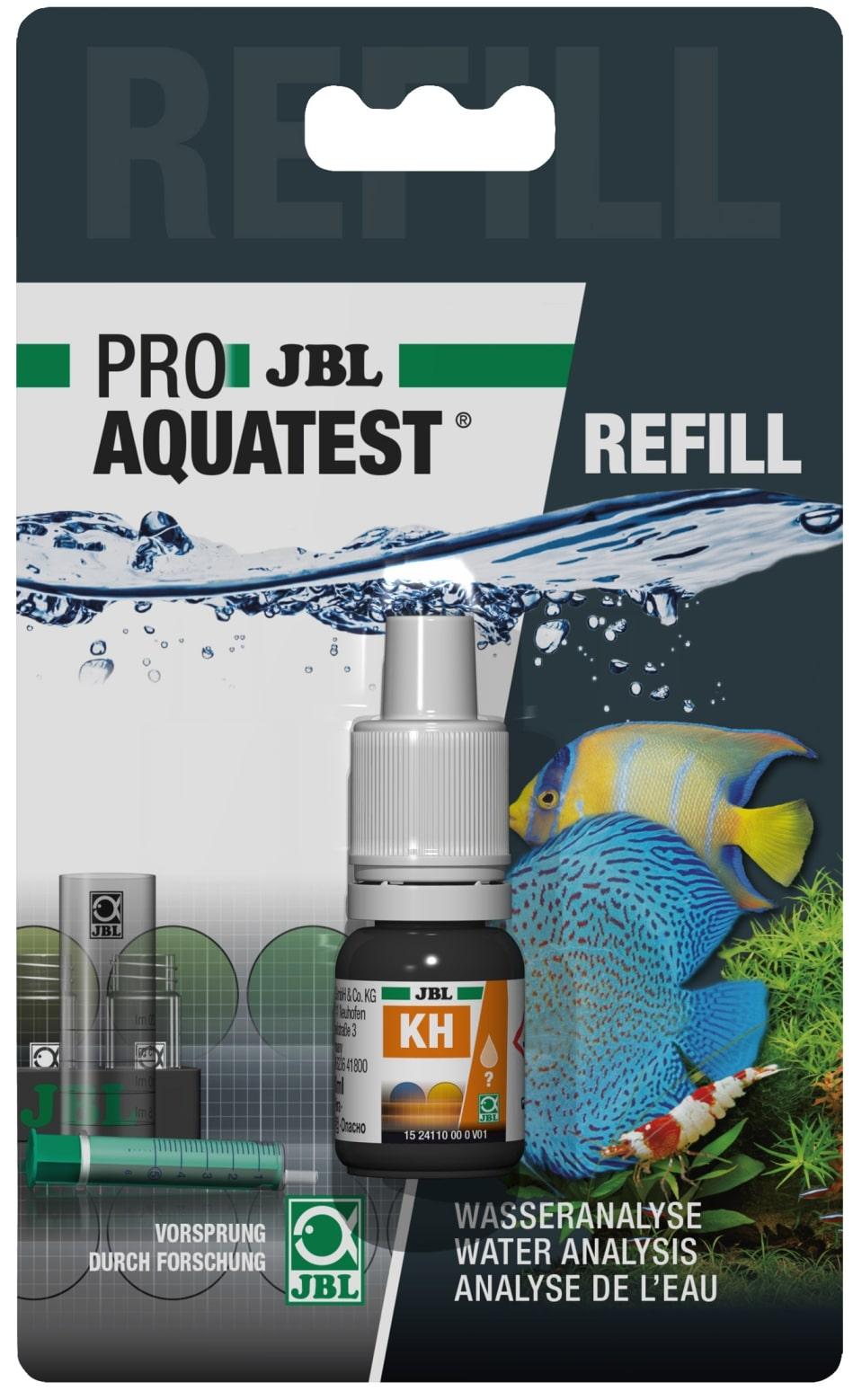 JBL Recharge ProAquaTest KH pour nouveau et ancien kit de test de dureté carbonatée