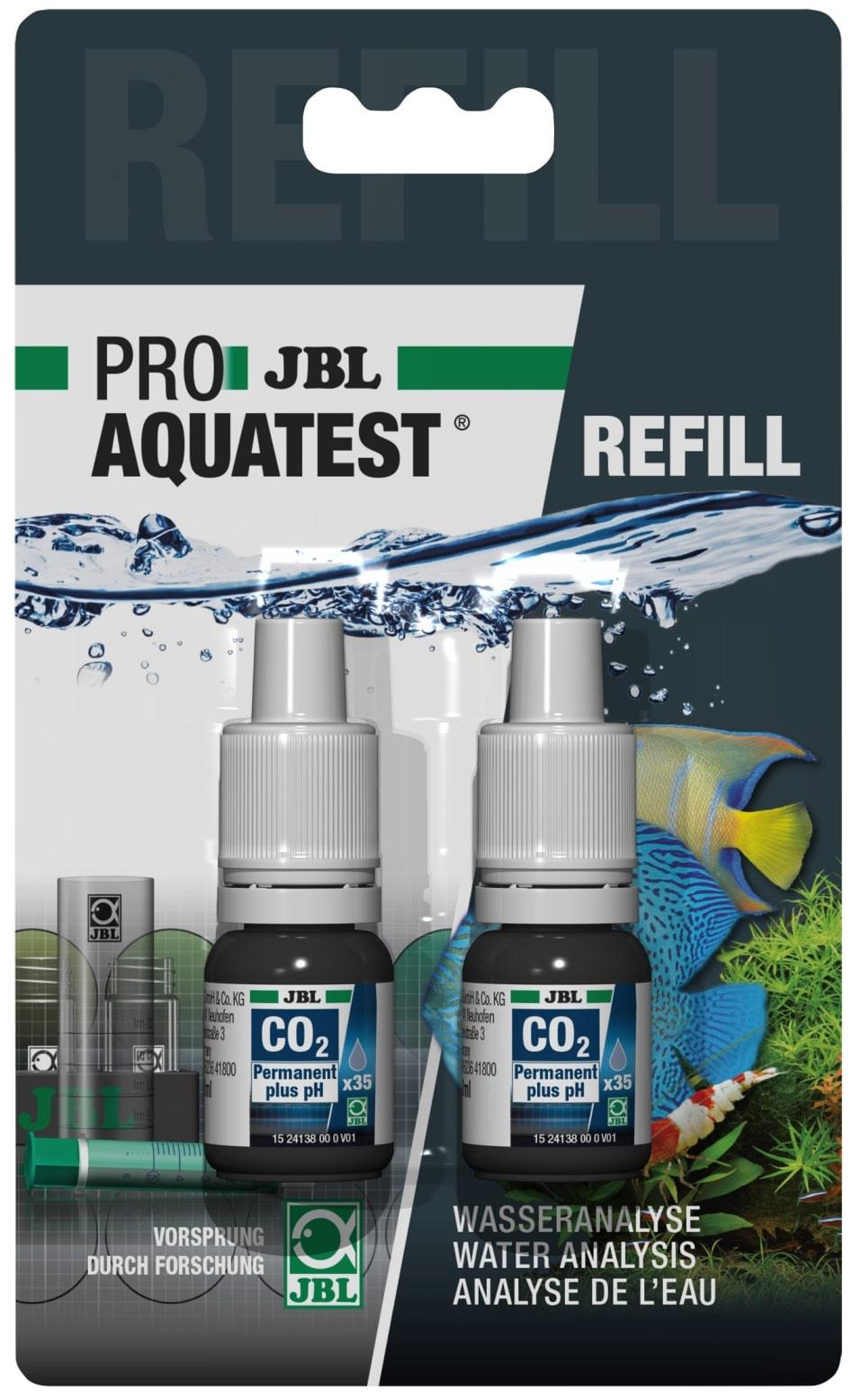 JBL Recharge ProAquaTest CO2/pH Permanent pour nouveau et ancien kit de test