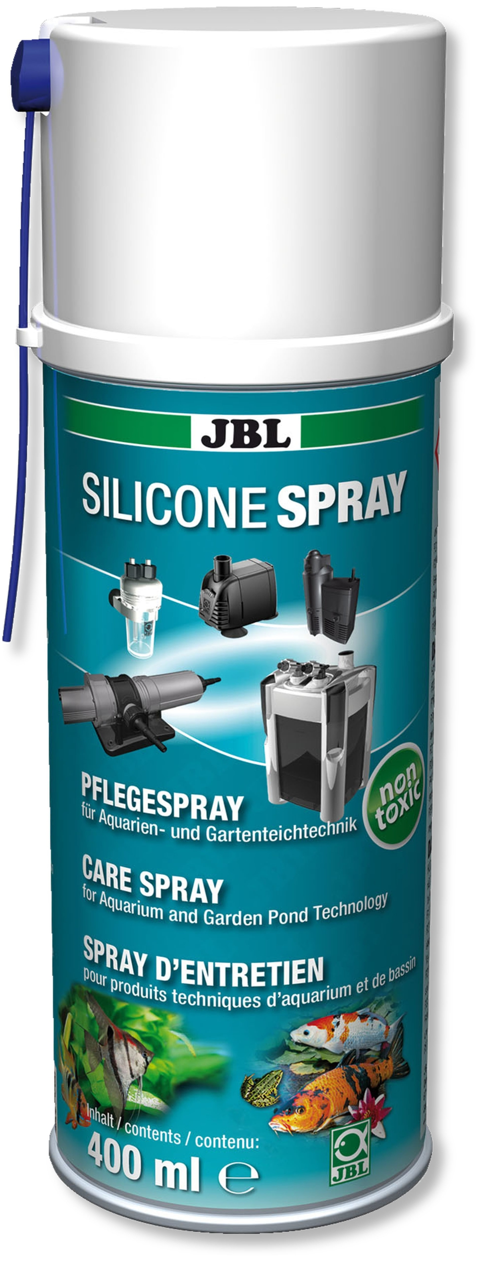 JBL Silicone Spray 400 ml graisse inerte à l\'eau pour pièces mobiles et joints