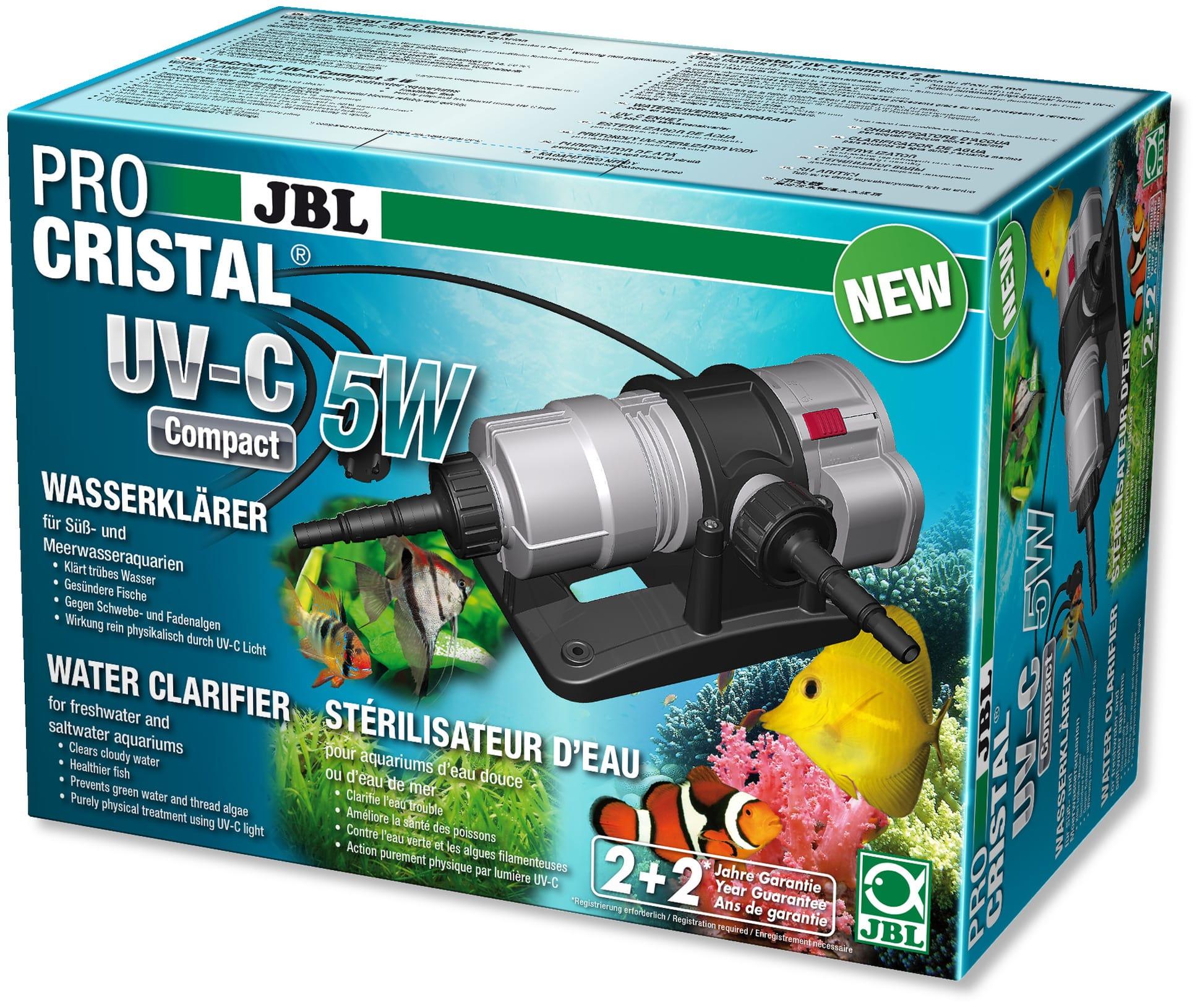 JBL ProCristal Compact UV-C 5 W stérilisateur UV pour aquarium de 100 à 300 L
