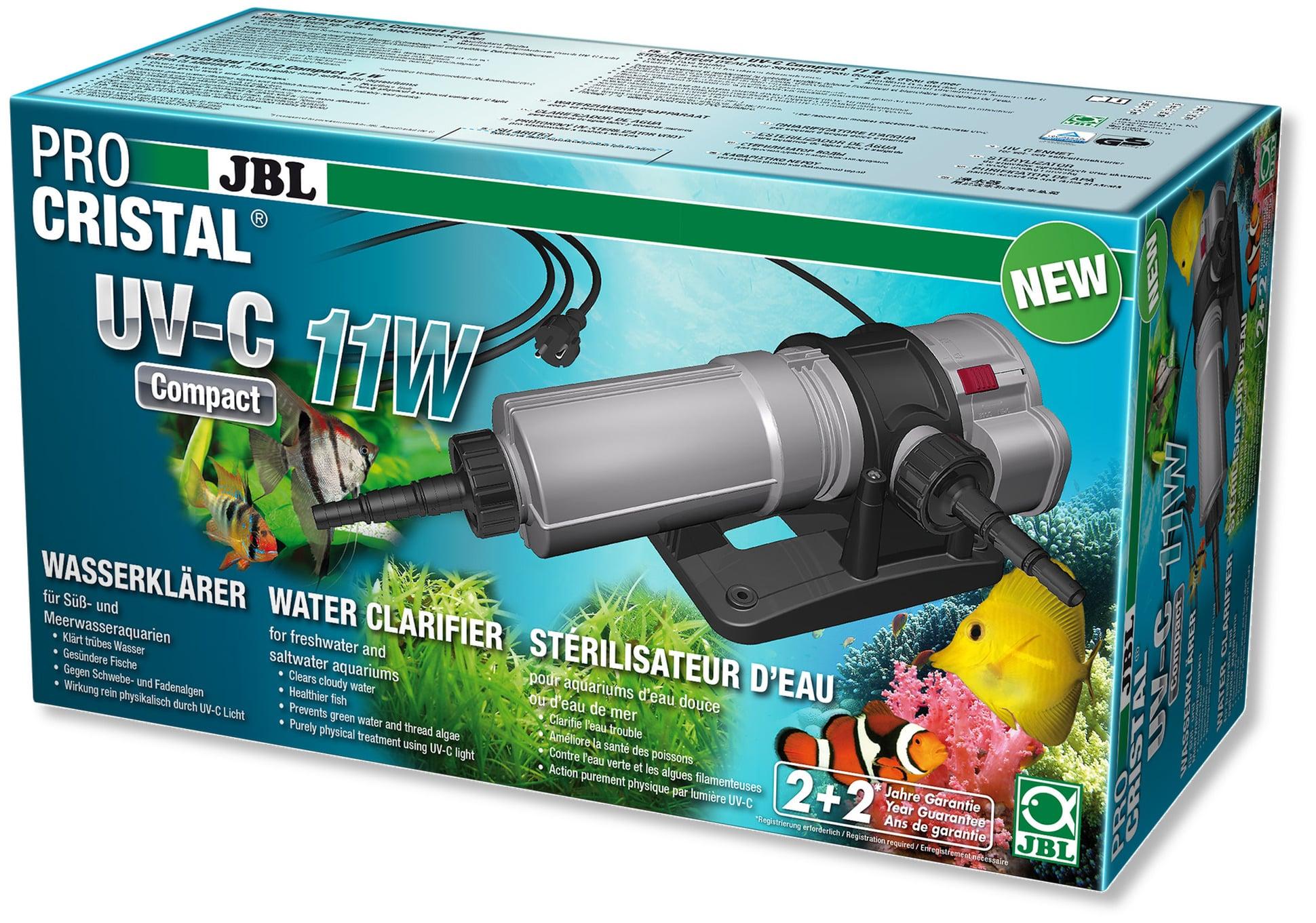 JBL ProCristal Compact UV-C 11 W stérilisateur UV pour aquarium de 100 à 800 L