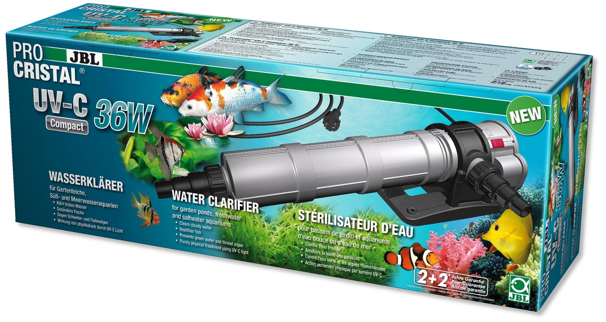 JBL ProCristal Compact UV-C 36 W stérilisateur UV pour aquarium de 300 à 3000 L et bassin jusqu\'à 30000 L