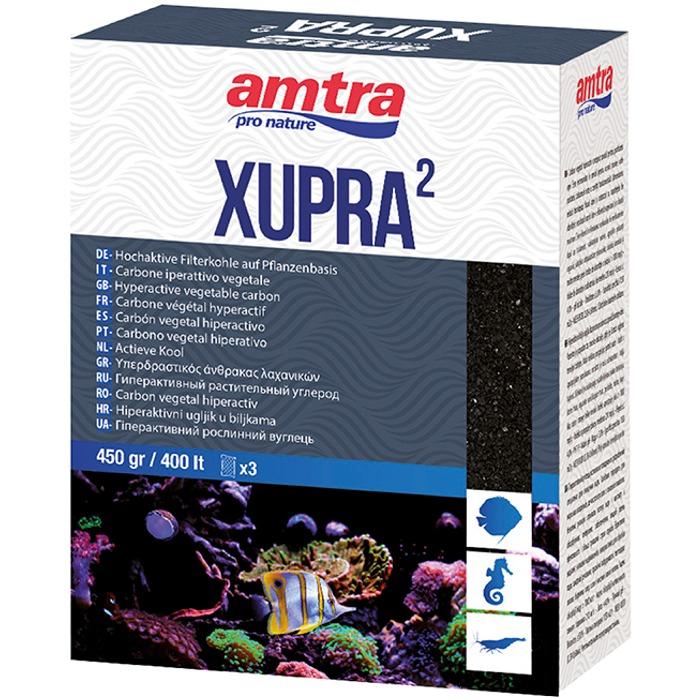 AMTRA Xupra 2 450 gr. charbon fin hyperactif supérieur pour filtration d\'eau d\'aquarium