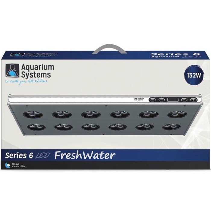 AQUARIUM SYSTEMS AH45XF Série 6 Eau Douce rampe LED 132W pour aquarium de 45 à 60 cm