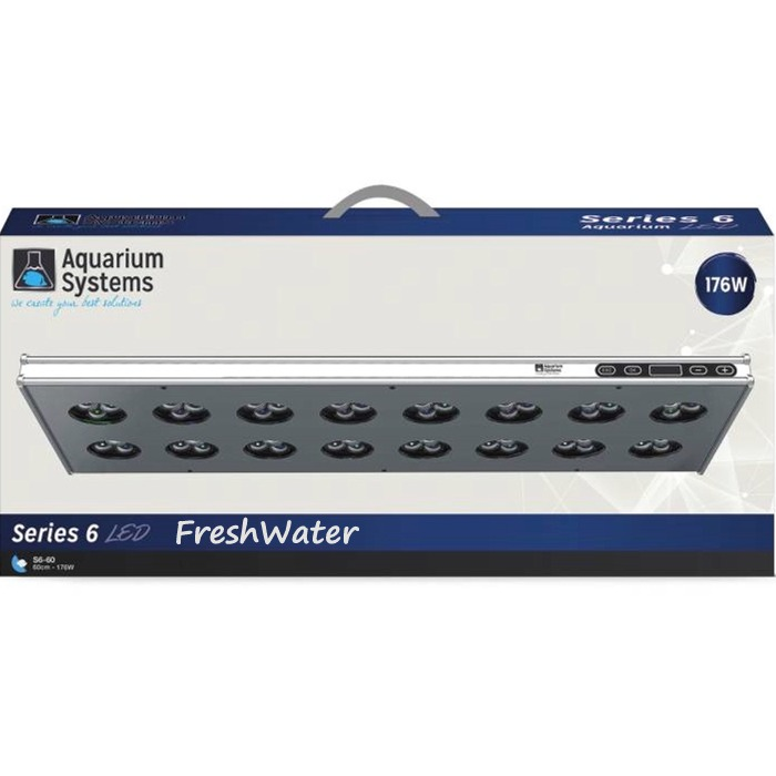 AQUARIUM SYSTEMS AH60XF Série 6 Eau Douce rampe LED 176W pour aquarium de 60 à 90 cm
