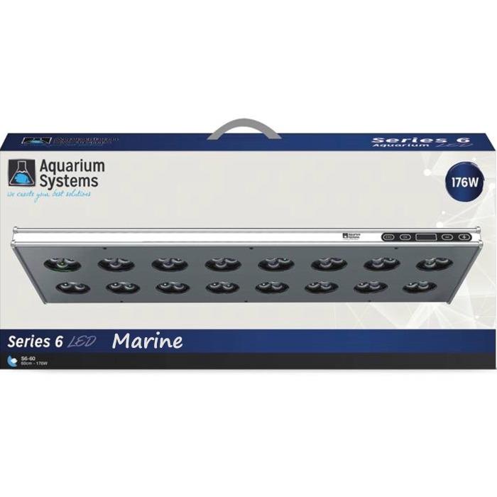 AQUARIUM SYSTEMS AH60XM Série 6 Eau de mer rampe LED 176W pour aquarium de 60 à 90 cm