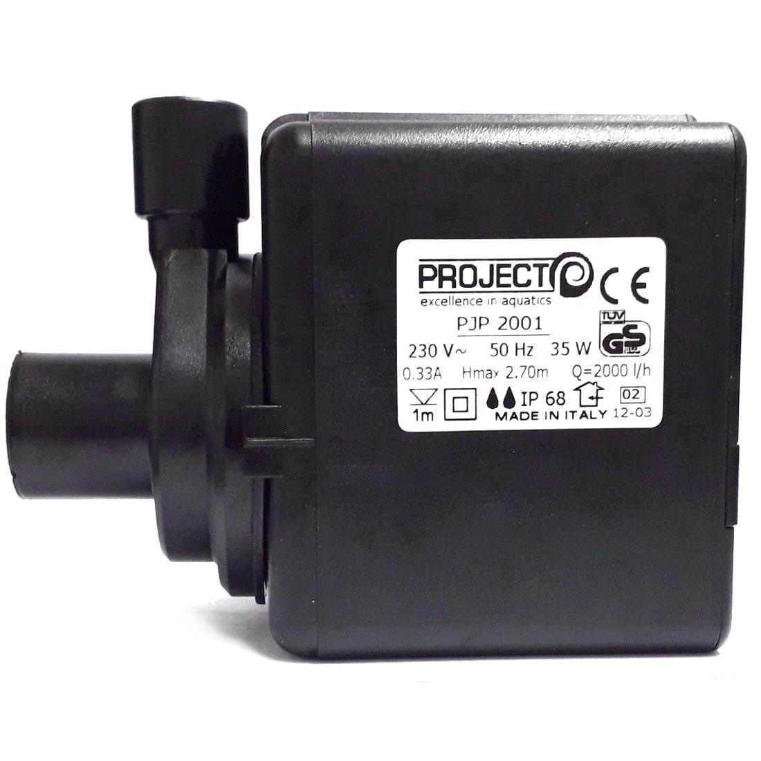 PROJECT PJP 2001 pompe de remontée 2000 L/h pour aquarium d\'eau douce ou d\'eau de mer