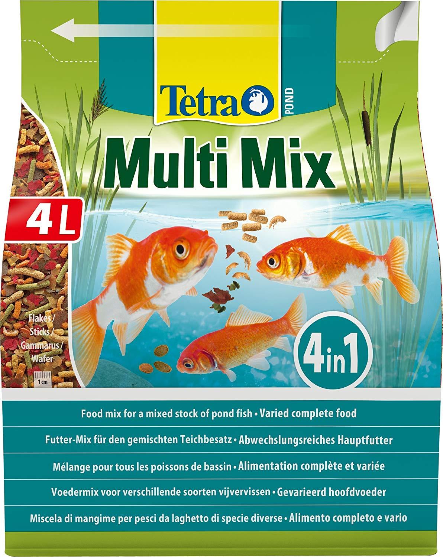 tetra-pond-multimix-4l-aliment-complet-compose-de-flocons-sticks-petits-disques-nutritifs-et-gammarus-pour-tous-poissons-de-bassin