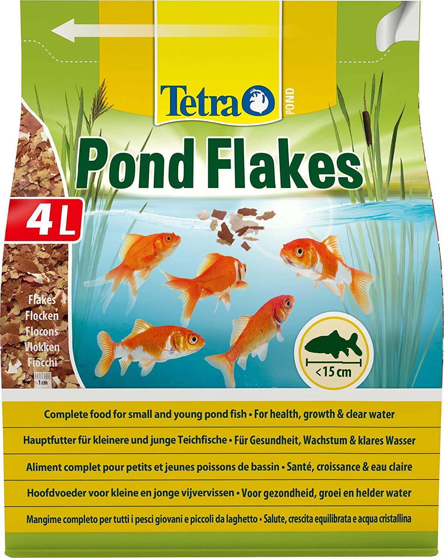 TETRA Pond Flakes 4L aliment complet en flocons spécialement conçu pour les petits poissons de bassin