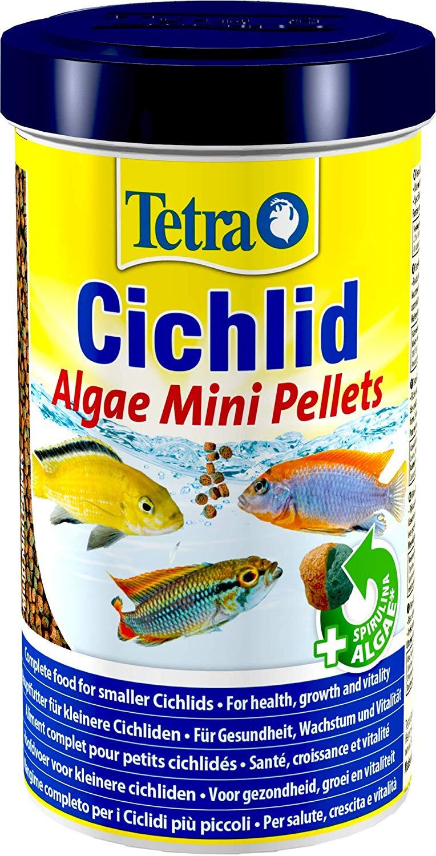 TETRA Cichlid Algae Mini 500 ml aliment complet enrichi en Spirulina pour Cichlidés herbivores de petite taille