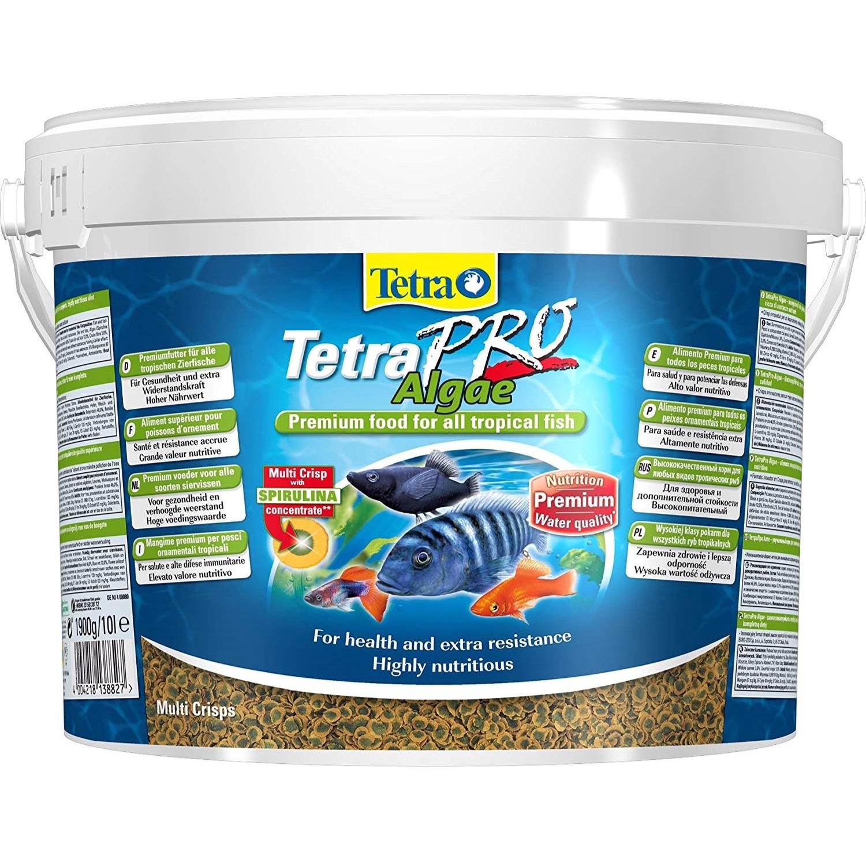 TETRA Pro Algae 10L aliment en chips de qualité supérieure à base d\'algues pour poissons d\'ornement herbivores