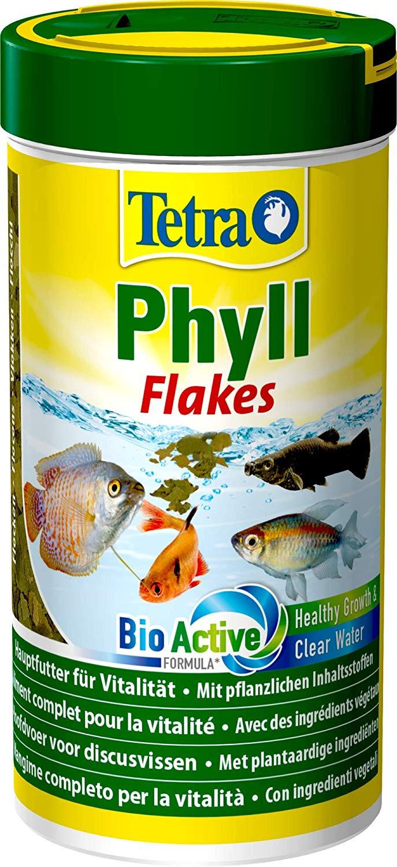 TETRA Phyll 250 ml aliment complet en flocons pour tous les poissons d\'aquarium herbivores