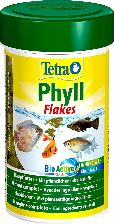 TETRA Phyll 100 ml aliment complet en flocons pour tous les poissons d\'aquarium herbivores