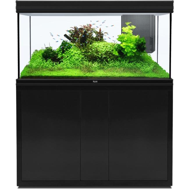 AQUATLANTIS Fusion LED 2.0 120 x 50 x 70 cm Noir aquarium 420 L avec meuble