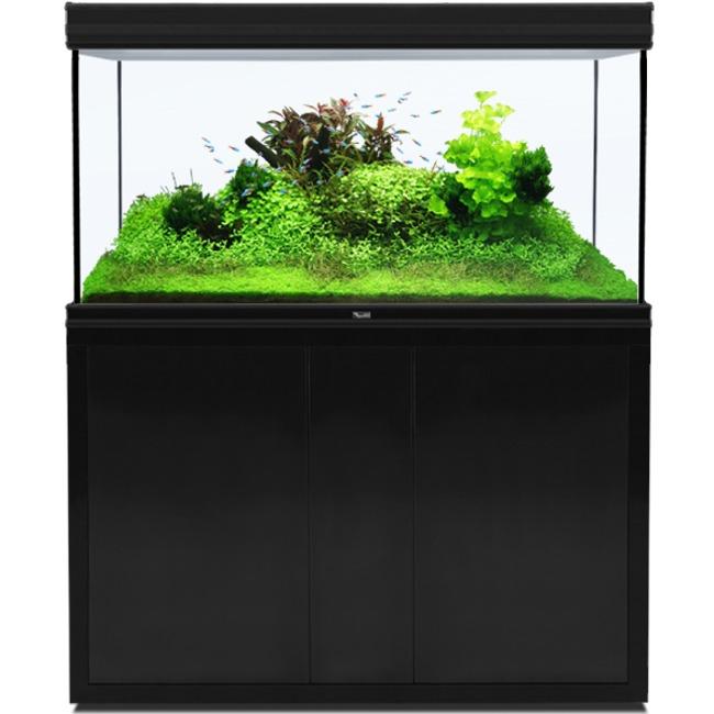 AQUATLANTIS Fusion LED 2.0 120 x 60 x 75 cm Noir aquarium 540 L avec meuble