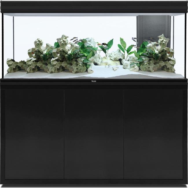 AQUATLANTIS Fusion LED 2.0 150 x 50 x 70 cm Noir aquarium 525 L avec meuble