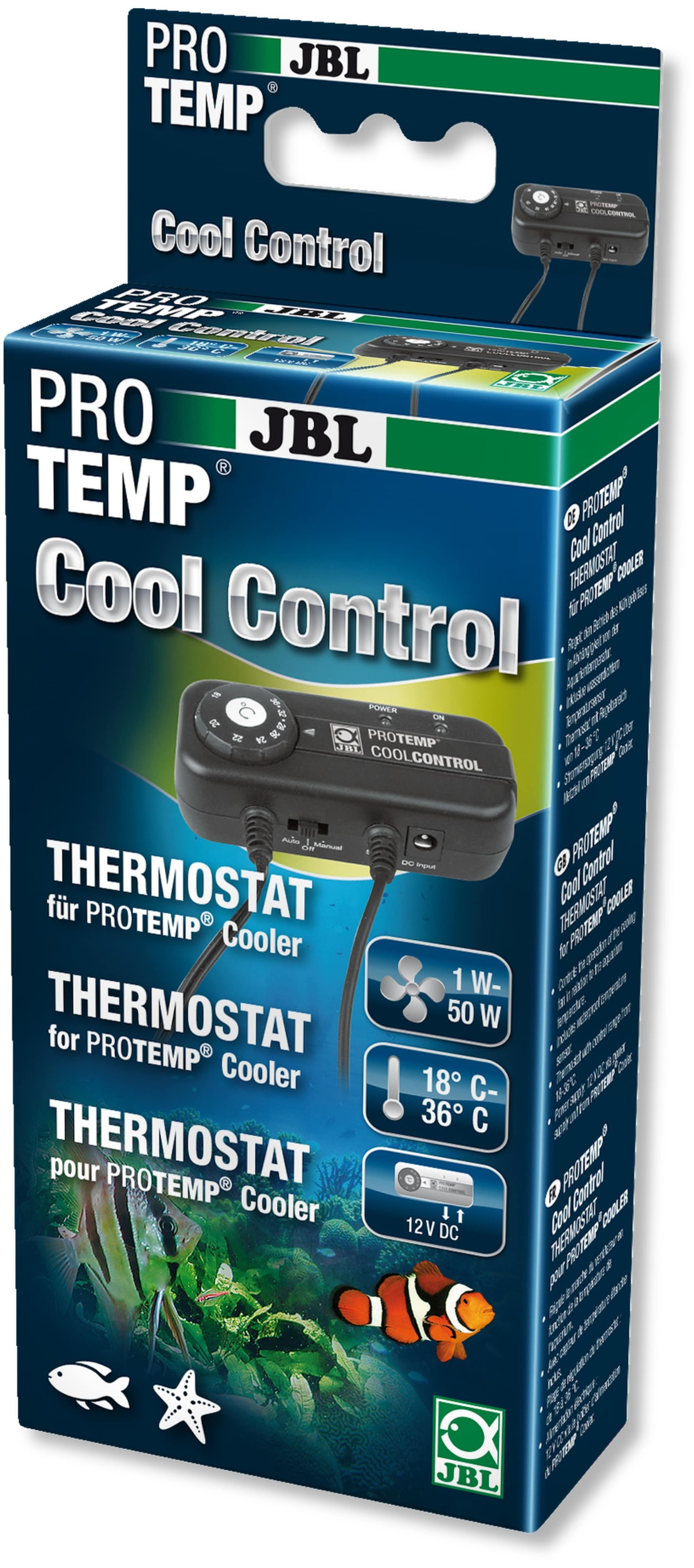 JBL ProTemp CoolControl thermostat de contrôle 12V pour ventilateur d\'aquarium