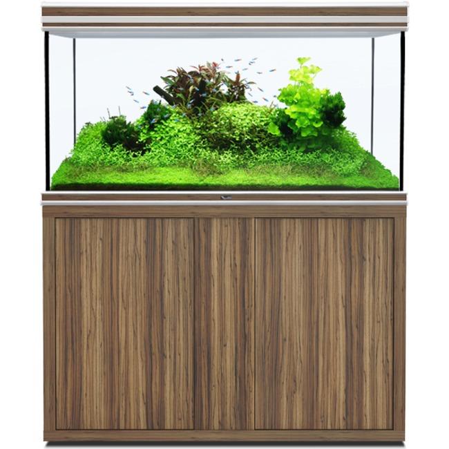 AQUATLANTIS Fusion LED 2.0 120 x 60 x 75 cm Zebrano aquarium 540 L avec meuble